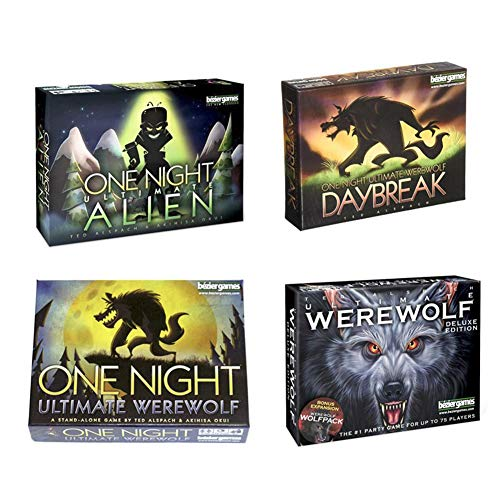 josietomy Tarjeta De Juego De Mesa Inglesa, One Night Ultimate Werewolf, Ultimate Werewolf Deluxe Edition: Daybreak Expansion