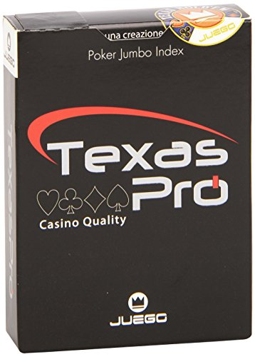 "Juego - Baraja Texas Pro. Plástico 100 % ""casino Quality"", de viaje - Azul , color/modelo surtido"