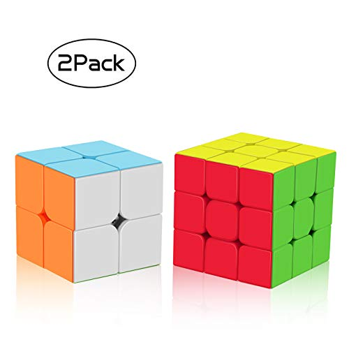 Juego de Cubos de Velocidad, Cubo mágico Esmerilado, 2 x 2 x 2, 3 x 3 x 3 cm, no se atasca, de Roxenda.