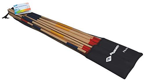 Juego de Mikado, la Versión Gigante del Juego Clásico, 25 Palos, 90 cm de Longitud, Fabricado con Madera Certificada FSC, en una Bolsa Resellable