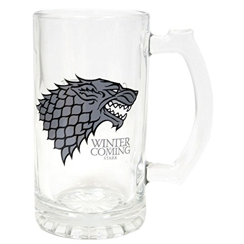 Juego de Tronos SDTSDT27345 - Jarra para Cerveza de Cristal, diseño Stark Winter Is Coming (SD Toys SDTSDT27345) - Jarra Winter is Coming Stark