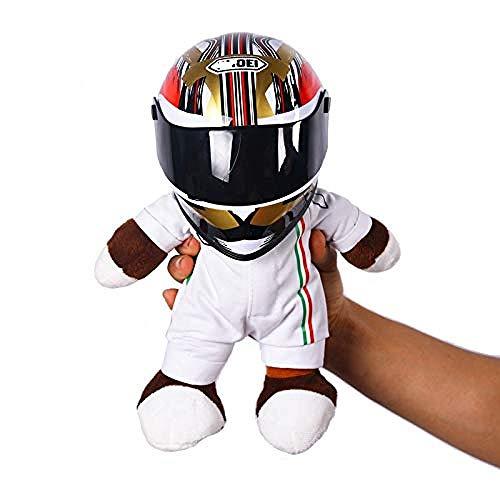 Juguete de peluche 1pcs Casco de motocicleta Muñeca de oso de carreras Juguetes de animales de peluche Use una pequeña muñeca de casco Muñeca de motocicleta apta para Benelli Racing Entrega aleatoria