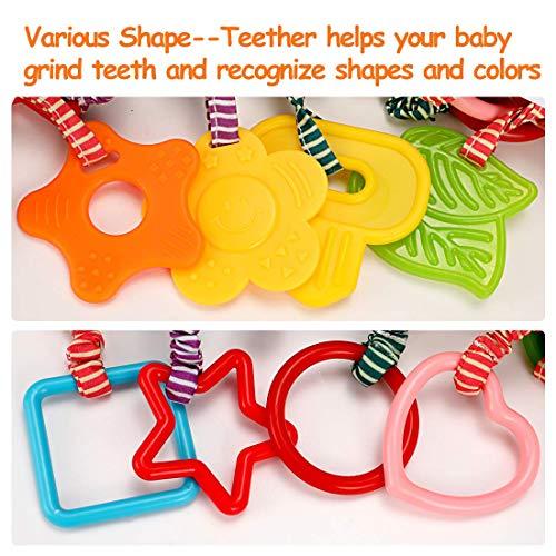Juguetes para bebés para 0, 3, 6, 9, 12 Meses, mordedores Cochecito de Peluche de Desarrollo temprano Cochecitos para bebés, Regalos de cumpleaños para recién Nacidos, Paquete de 4