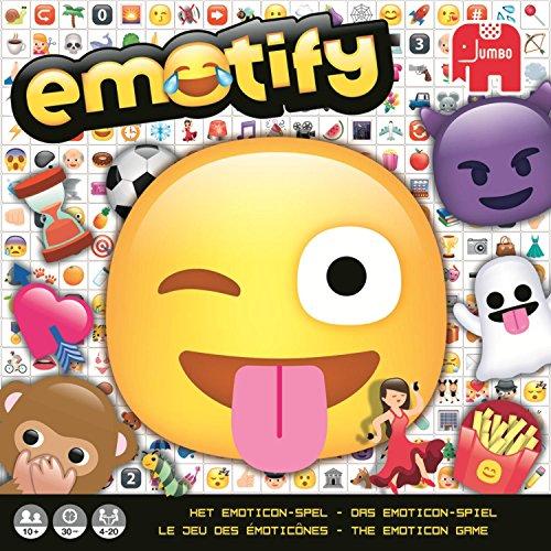 Jumbo Emotify Adultos Juegos de Preguntas - Juego de Tablero (Juegos de Preguntas, Adultos, 30 min, Niño/niña, 10 año(s), Alemán, Holandés, Inglés, Francés)