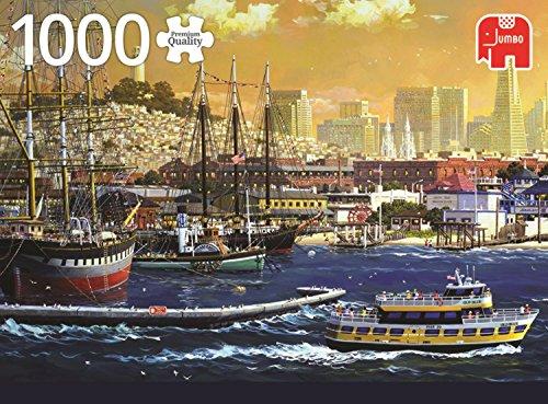 Jumbo-The Harbour of, USA pcs El Puerto de San Francisco, EE.UU, Puzzle de 1000 Piezas (618552)