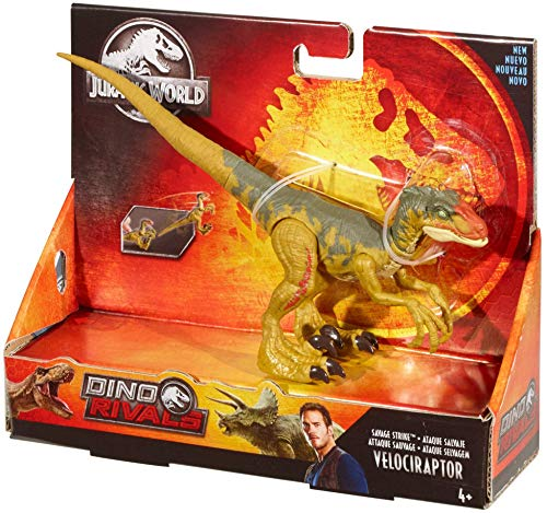 Jurassic World Ataque Salvaje, Velocirráptor, dinosaurio de juguete (Mattel GFG66)