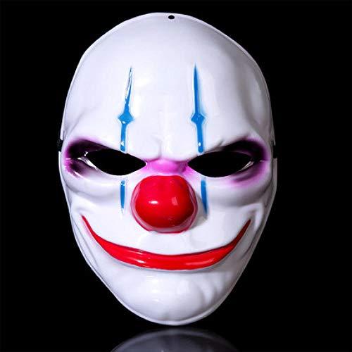 JXNin Horror V Palabra Máscara Payaso Cabeza De Fantasma Carnaval De Halloween Bola Enmascarada Broma Disfraz Tema Noche - Estilo 3_2Paket