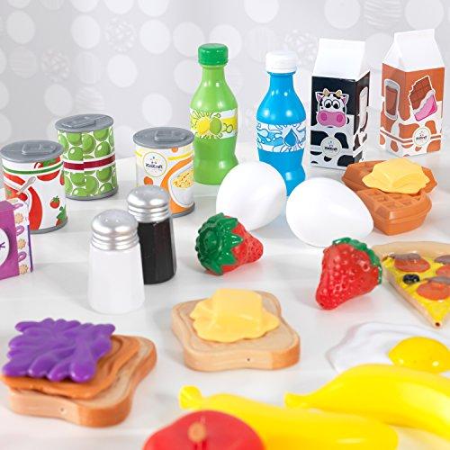 KidKraft- Tasty Treats Set de alimentos para juegos de simulación, 115 piezas y accesorios para la cocina de juguete para niños, Color Multicolor (63330 ) , color/modelo surtido