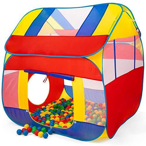 KIDUKU® Tienda de Juegos Infantil 300 Bolas   Piscina de Bolas   Carpa de Tela para Niños Pop Up + Bolsa para Transportar - Uso Interior y Exterior