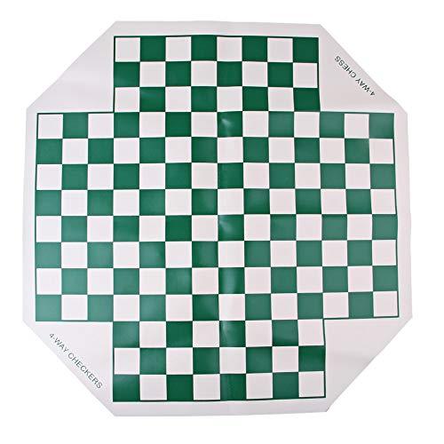 Kimmyer Juego de ajedrez portátil para Cuatro Jugadores, Tablero de ajedrez de Cuero Enrollable, Mejora la Capacidad de Pensamiento lógico de los niños, Adecuado para 2-4 Jugadores