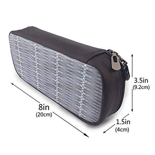 KLKLK estuche Geometric Big Pencil case Oriental Plant Design Zippered Pen Case for School Easy to Carry