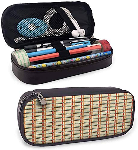 KLKLK estuche Geometric Pencil Cases for Adults Colorful Linked Lines Zippered Pen Case for School Easy to Carry
