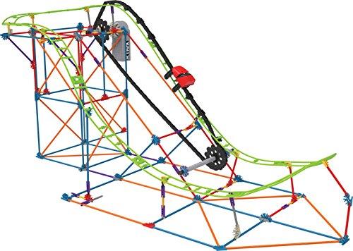 K'nex 27152 Thrill Rides, T-Rex Fury Roller Coaster Set de construcción de Posavasos, Edad 9+ Virtual Reality Juguete de construcción, 478 Piezas