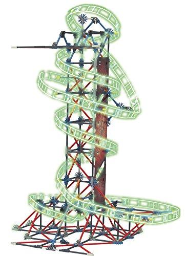 K'nex Knex Thrill Rides Montaña Rusa Web Weaver 399 Piezas 2 Posiciones Fluorescente (con Motor) (Fábrica de Juguetes 41229)