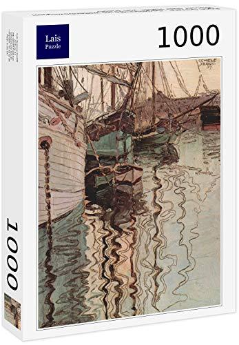 Lais Puzzle Egon Schiele - Veleros en el Agua de Las Olas (El Puerto de Trieste) 1000 Piezas