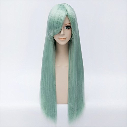 LanTing Cosplay Peluca The Seven Deadly Sins Elizabeth Liones Green Long Styled Woman Cosplay Party Fashion Anime Human Costume Full wigs Synthetic Cabello Heat Resistant Fiber