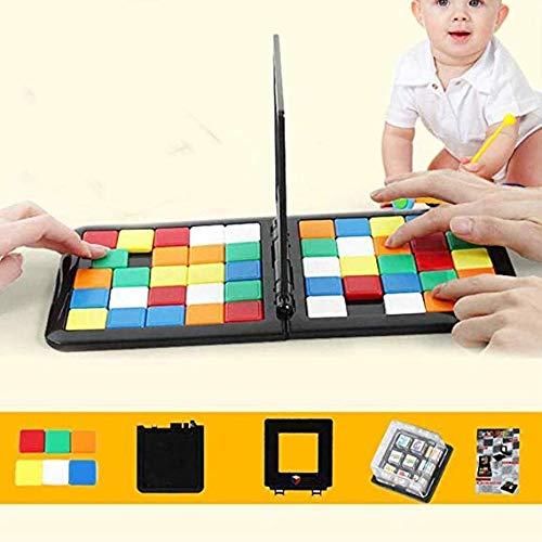 Lckkk Bloquear la Magia del Juego Batalla Cubo de Rubik Carrera de Carrera de Escritorio Colorido Juego de Carreras de Juguete Juego de la Placa de Escritorio Familia de los niños para la Educación