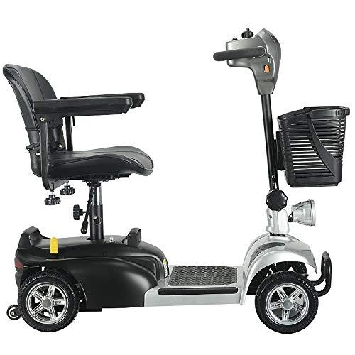 LCPP Plegable de Ancianos Scooter Eléctrico Triciclo de Edad Avanzada Herramientas Vespa Scooter eléctrico Plegable Cuatro / Load120 Kg / 24V12AH eléctrico con Movilidad Reducida Vespa 20 kilometros