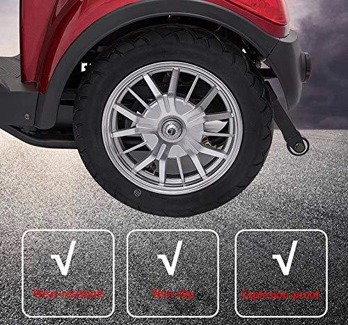 LCPP Veces Mayores Plegable Scooter Scooter Ancianos 500W para El Hogar Eléctricos Vehículos De Cuatro Ruedas De Carga 150Kg / Ocio Pequeños Medios De Transporte para Los Ancianos,60V24AH