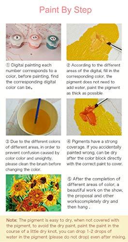 Leezeshaw pintura por números lienzo para adultos niños principiantes, pintura al óleo para danza en lienzo para decoración del hogar, Bailarín02, Without Frame-24X30Inch