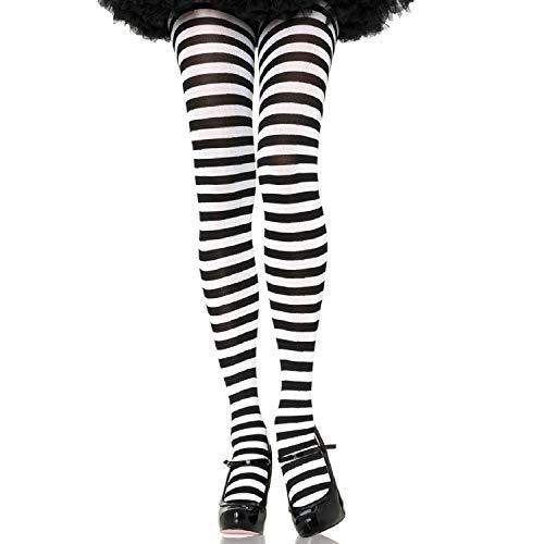 Leg Avenue- Mujer, rayas, Color blanco y negro, Talla Plus 3X/4X (EUR 52-56) (7100Q09007)