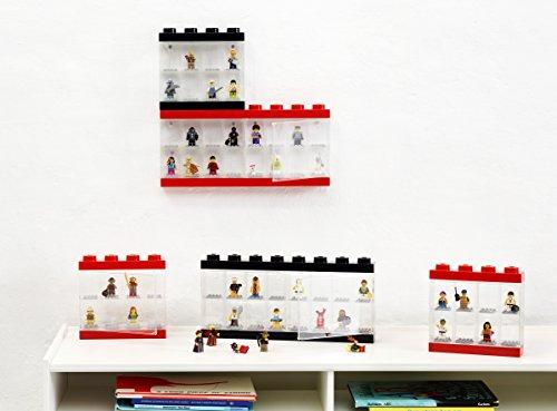 LEGO 4065 - Caja de almacenaje para minifiguras con diseño de ladrillo 16, color negro (Room Copenhagen)