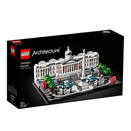 LEGO Architecture - Trafalgar Square Nuevo maqueta de juguete para construir el emblemático espacio de Londres, incluye Taxis y Autobuses Típicos de la Ciudad (21045)