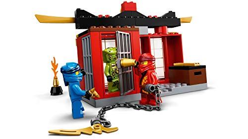 LEGO Ninjago - Batalla en el Caza Supersónico, avión de juguete de ninjas de niños y niñas 4 años o más, Set inspirado en Maestros de Spinjitzu, avión de juguete (71703)