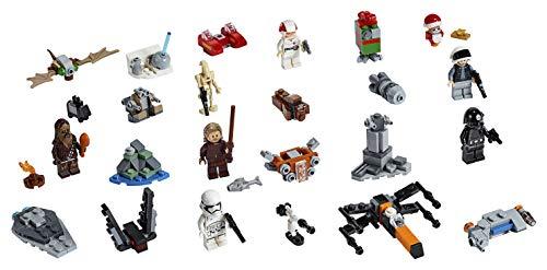 LEGO Star Wars - Calendario de Adviento 2019, Set de Cuenta Atrás para Navidad con 24 Juguetes de Construcción, Incluye 6 Minifiguras y 4 Droides (75245)