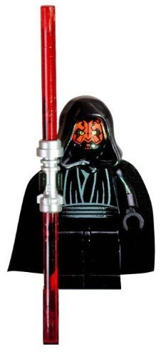 Lego Star Wars Darth Maul Minifigure with Double-Sided Lightsaber by LEGO (English Manual)
