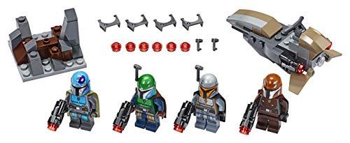LEGO Star Wars - Pack de Combate: Mandalorianos, Juguete Basado en el Universo de la Guerra de las Galaxias, Incluye un Vehículo Espacial y Armas de Juguete (75267)