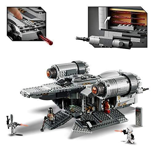 LEGO Star Wars - The Razor Crest Juguete de construcción de nave espacial inspirado en la serie Mandalorian, incluye a el Mandaloriano y Baby Yoda entre otros (75292), Exclusivo de Amazon