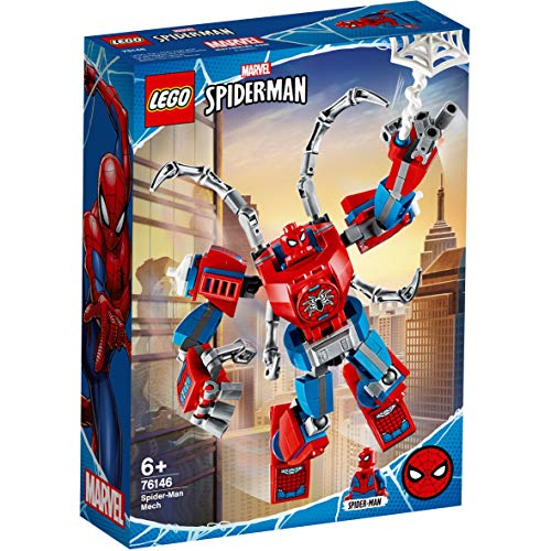LEGO Super Heroes - Armadura Robótica de Spider-Man, Set de Construcción de Figura de Acción de Juguete para Fans de Marvel (76146)