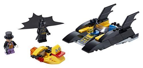 LEGO Super Heroes - ¡Caza del Pingüino en la Batlancha! Juego de Batman de construcción para niños y niñas 4 años o más, set de aventuras de superhéroes, incluye dos lanchas de juguete (76158)