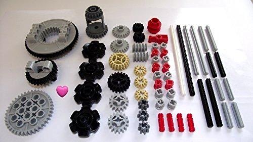 LEGO® TECHNIC 60 piezas de engranajes, ejes y juego de tapón. Dado un corazón Lego®