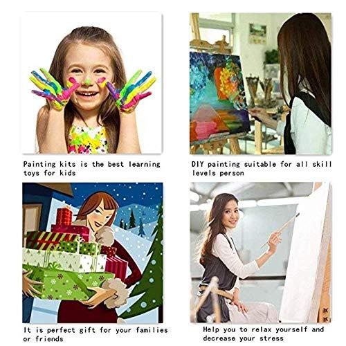 LGCCC Lienzo de Bricolaje Regalo de Pintura al óleo para Adultos niños Pintura por número Kits Cat atrapa el ratón Pintura al óleoPor números para la decoración del hogar sin Marco-50×60CM
