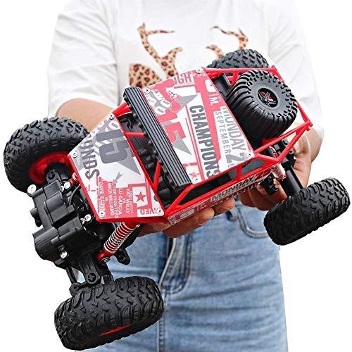LIANYANG RC Coche Fast 4WD Off Road 2.4GHz Vehículo de Cochereras de Alta Velocidad 1:14 Big Foot Climbing Drift Buggy All Terrain Cross Country ReCochegable Boy Girl Toy 70 Minutos Standby Adecuado