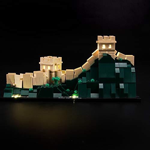 LIGHTAILING Conjunto de Luces (Architecture Gran Muralla China) Modelo de Construcción de Bloques - Kit de luz LED Compatible con Lego 21041 (NO Incluido en el Modelo)