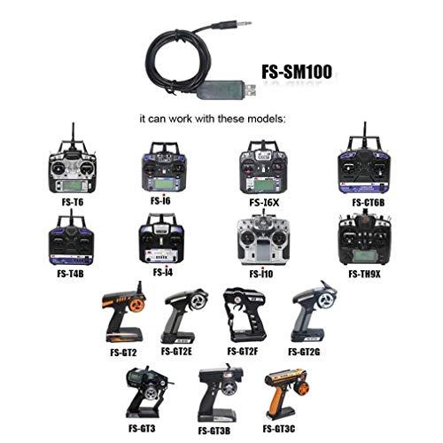 LITEBEE Flysky SM100 Flight Simulator Adapter Cable for Flysky FS-i6 FS-T6 FS-i4 FS-TH9X FS-T4B FS-GT3 FS-GT2 Transmitter Remote Controller