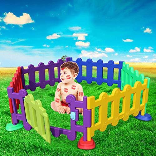 LIUFS-Valla Valla De Protección Infantil Valla De Juego Individual Centro De Actividades En Interiores Y Exteriores Valla De Plástico Kinder School (Nota: La Valla Es Una Pieza Única)