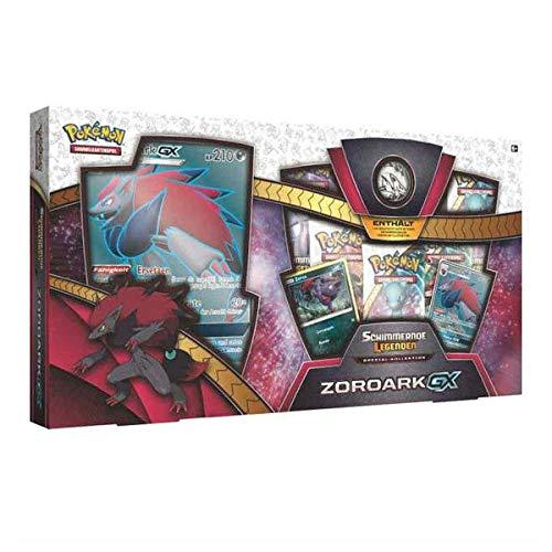 Lively Moments Naipes de Pokemon Brillantes Leyendas Especial - Colección Zoroark - GX de Alemán / Promo Cartas Coleccionables