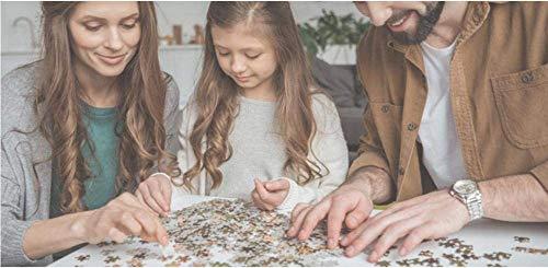 LIWEIXKY Rompecabezas Beautiful View Puzzle 1000 Piezas Puzzle para Adultos Juguetes educativos Niños Cool Rompecabezas de Madera Regalo Decorativo-Árbol Rojo en la montaña