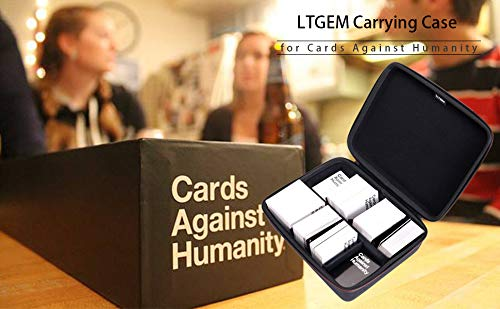 LTGEM EVA Estuche rígido para Cards Against Humanity - Se Adapta al Juego Principal