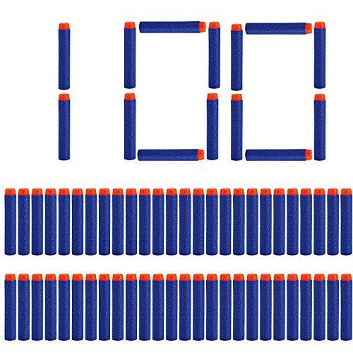 LVHERO 100 Balas Nerf Elite Armas de Juguete Compatible Dardos Darts