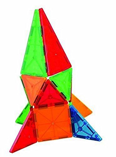 Mag-Genius Award Winning building Tiles Clear Colours 3D Brain Building Blocks Set Of 32 Pieces by Mag-Genius