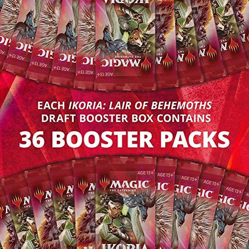 Magic The Gathering- Ikoria: Lair of Behemoths Caja (36 Paquetes de Refuerzo) – Incluye lámina Godzilla Series Monsters (Wizrads The Coast C86560001)