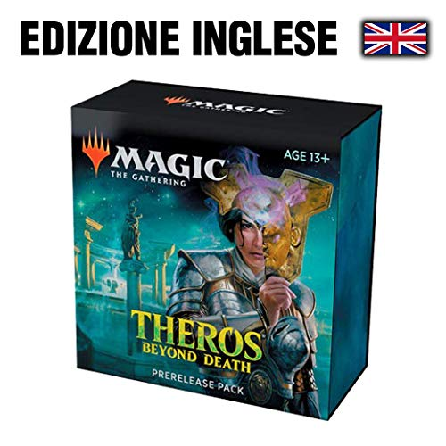 Magic The Gathering: Theros Beyond Death Prerelease Promo + 6 Boosters + D20 Spindown Counter) Kit