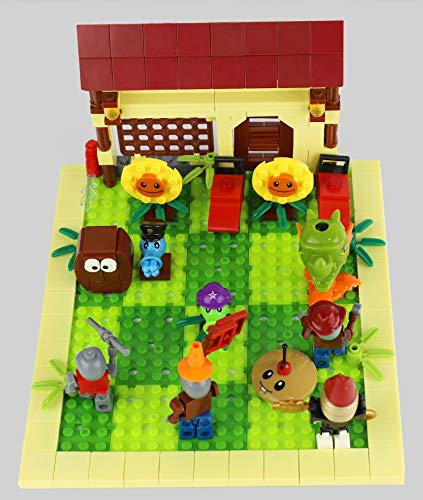 MAGMABRICK Plants Vs Zombies: Zombie Set y Plant 4X4 Battle Stage Building Compatible con Lego
