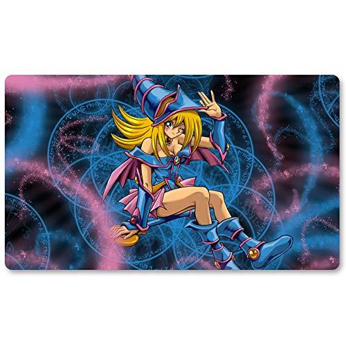 Mana The Dark Magician Girl – Juego de mesa Yugioh Playmat Games Table Mat Tamaño 60 x 35 cm Mousepad MTG Play Mat para Yu-Gi-Oh! Pokemon Magic The Gathering