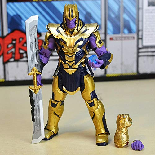 Marvel Avengers: Modelo De Personaje Animado De Thanos Ultimate Equipment De 20CM.